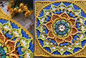 Beautiful Flower Afghan Free Crochet Patterns