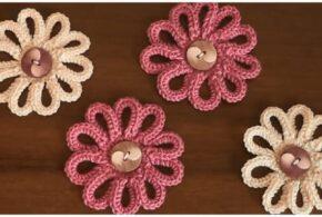 Crochet Flower For Home Decor – Learn to Crochet
